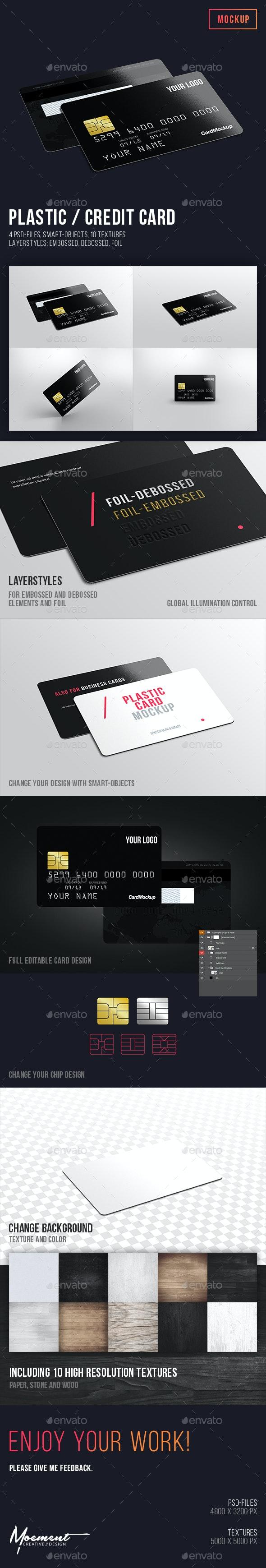 Plastic / Credit Card Mockup - Miscellaneous Print