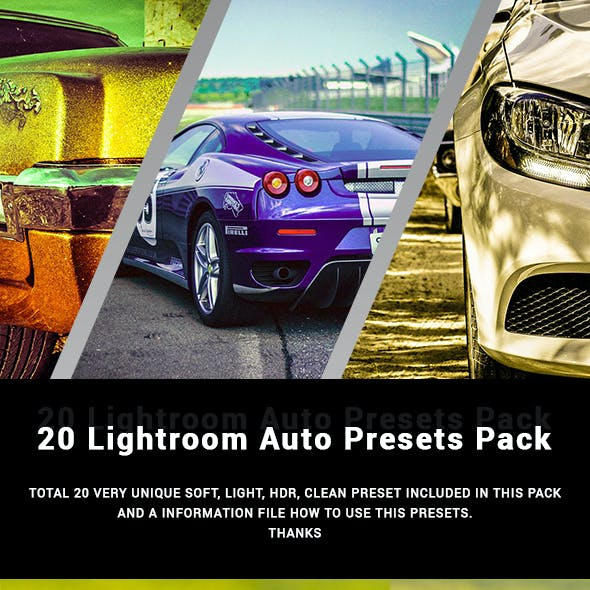 20 Auto Lightroom Presets