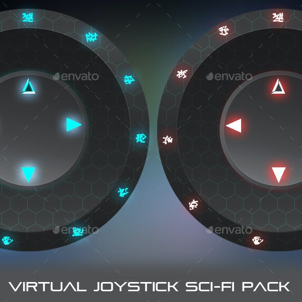 Virtual Joystick Sci-Fi Pack