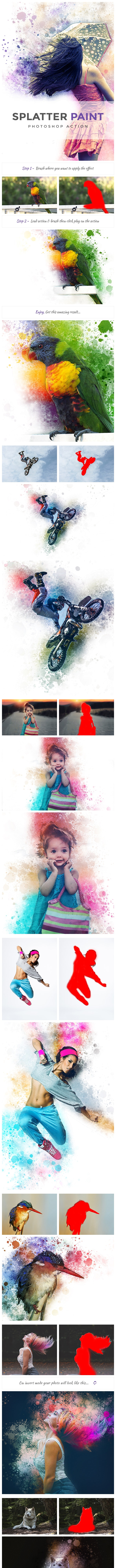 Splatter Paint | PS Action - Photo Effects Actions