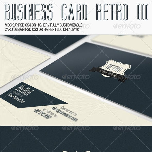 Business Card - Retro III
