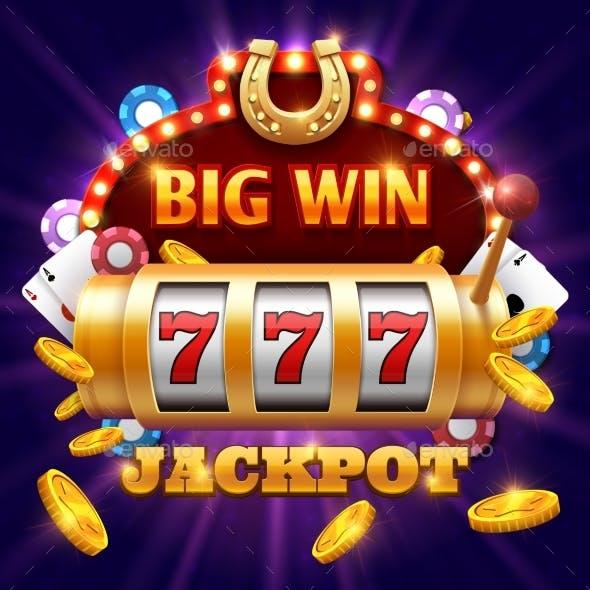 Big Win 777 Lottery Vector Casino Concept