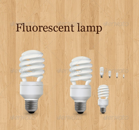 Fluorescent lamp - Technology Icons