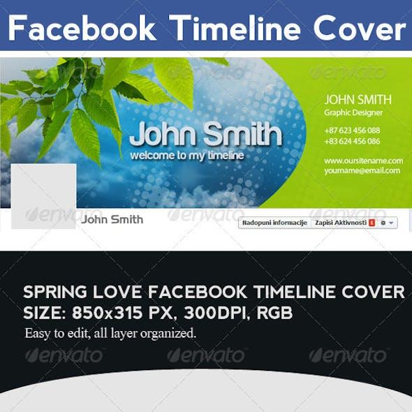 Spring Love Facebook Timeline Cover