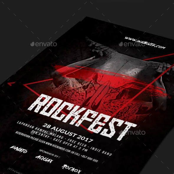 Rock or Metal Flyer