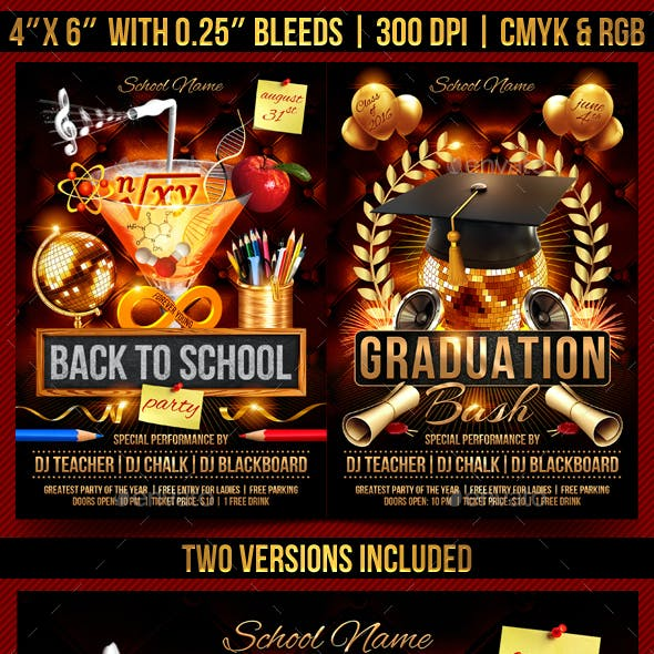 Back to School and Graduation Flyer
