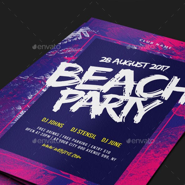 Brush Party Flyer