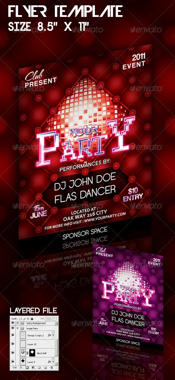 Flyer Template Your Party - Clubs & Parties Events
