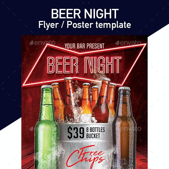 Beer Club Template for Flyer or Poster