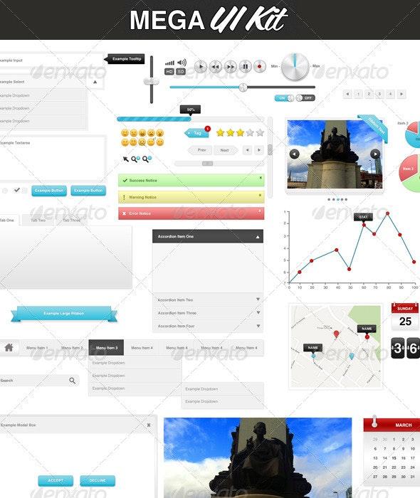 Mega UI Kit - User Interfaces Web Elements