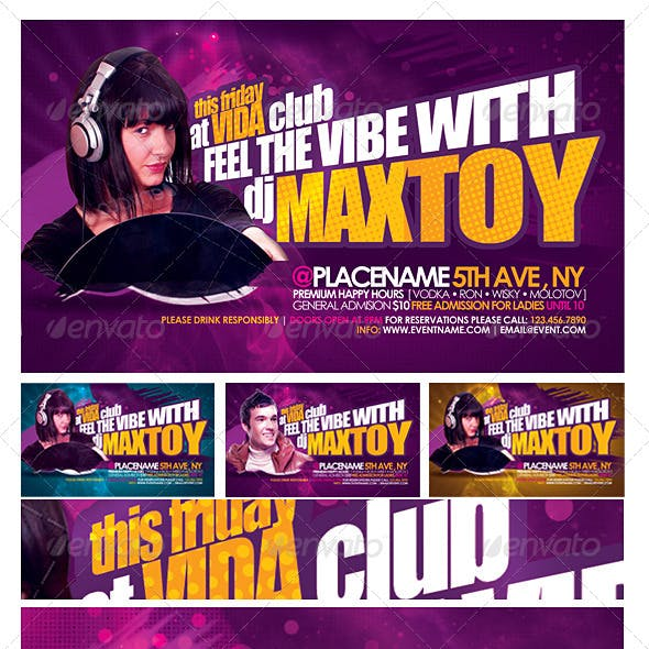 Maxtoy Dance Flyer Template