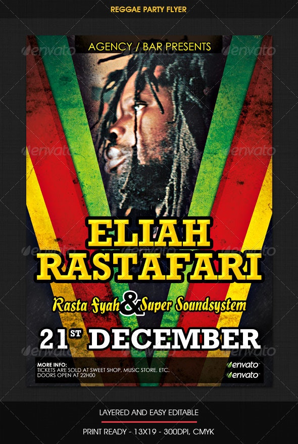 Reggae Jamaican Flyer - Clubs & Parties Events