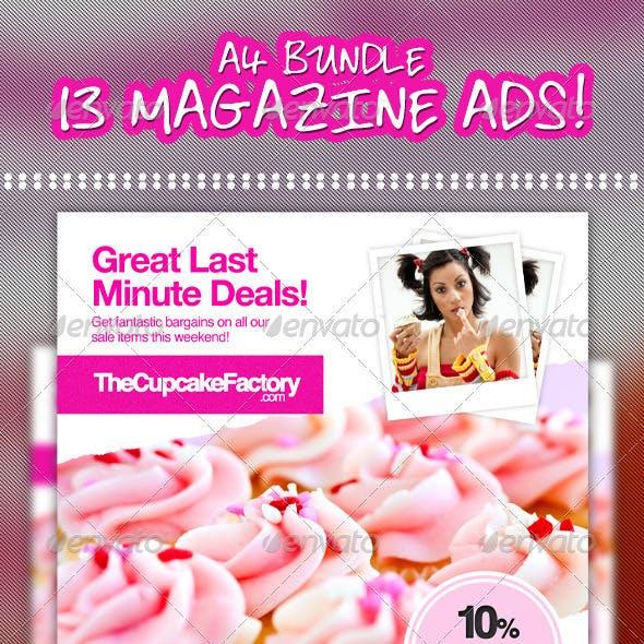 Mega Bundle - 13x A4 Magazine Ads