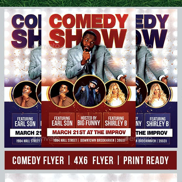 Comedy Show & Open Mic Flyer