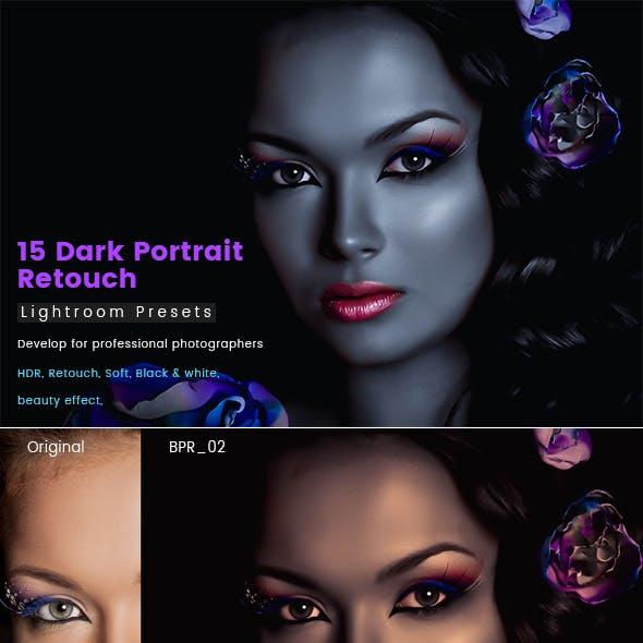 15 Dark Portrait Retouch Presets