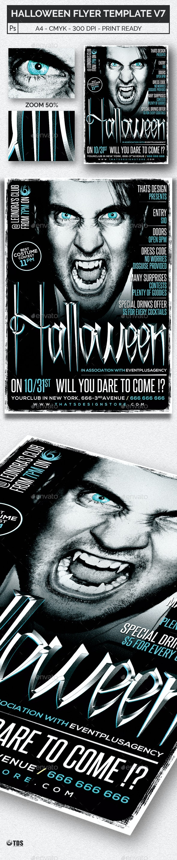 Halloween Flyer Template V7 - Holidays Events