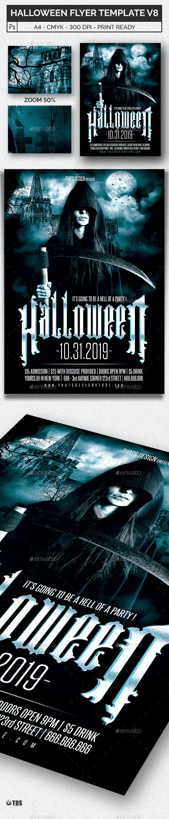 Halloween Flyer Template V8 - Holidays Events