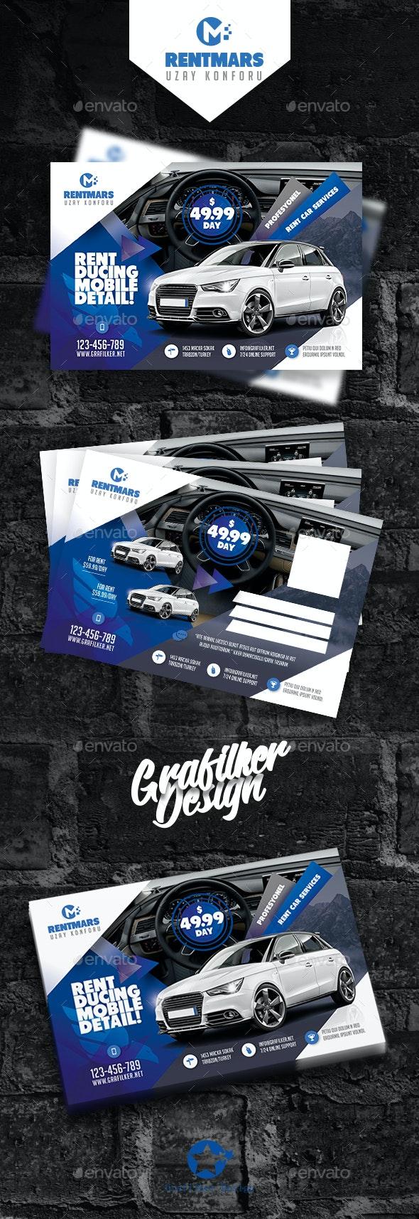 Rent A Car Postcard Templates - Signage Print Templates