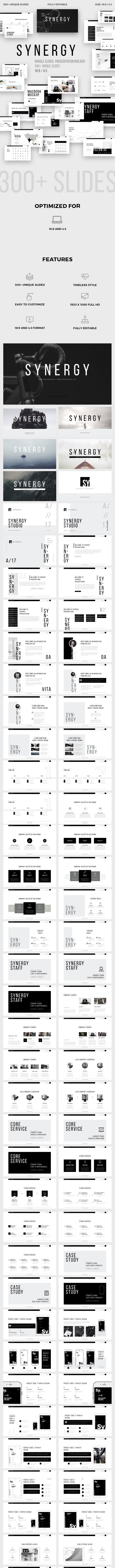 Synergy Minimal Google Slides Template - Google Slides Presentation Templates