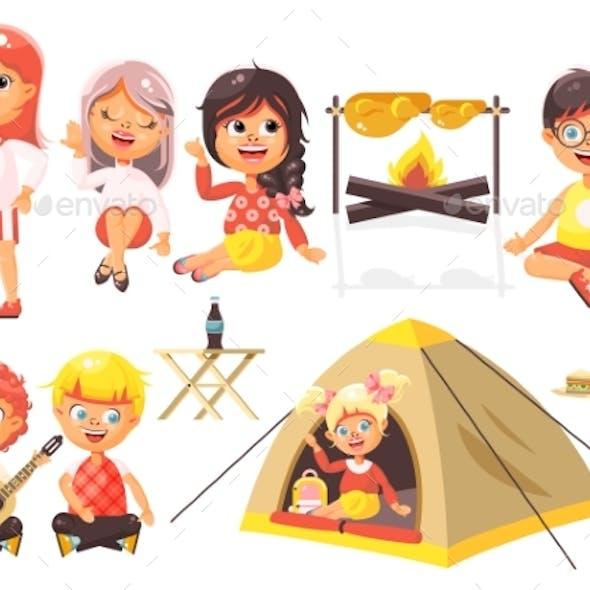 Vector Illustration Isolated Cartoon Characters