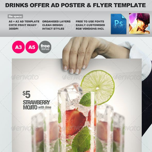 Drinks Promotion Advert Template Vol.2