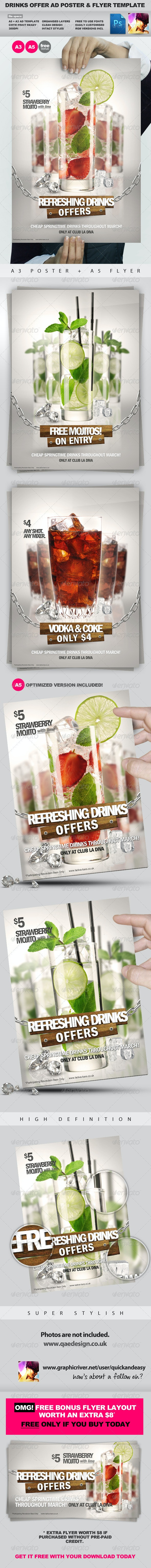 Drinks Promotion Advert Template Vol.2 - Corporate Flyers