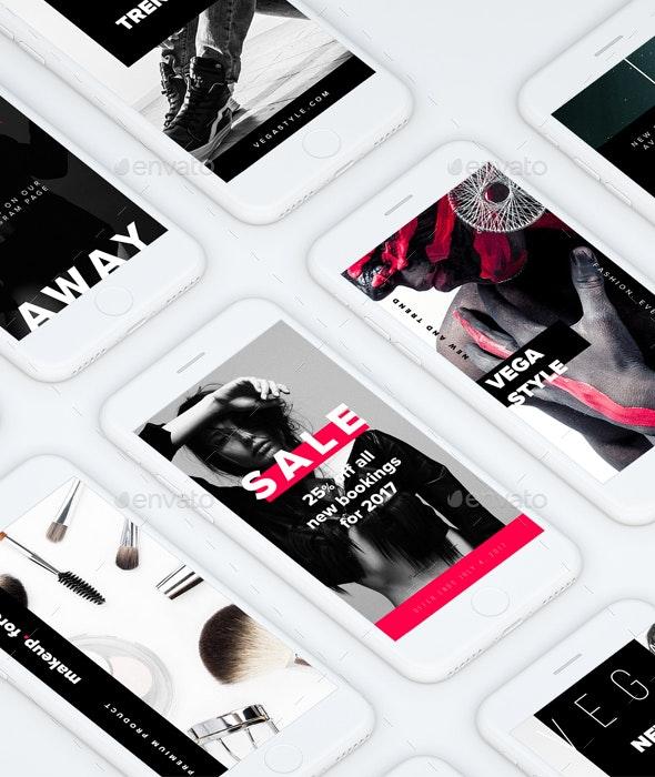 Vega Instagram Stories Templates - Social Media Web Elements