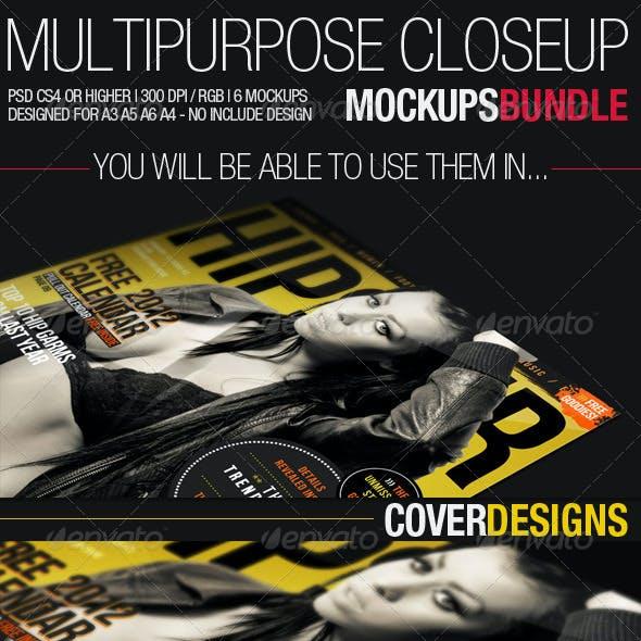 Multipurpose Closeup Mockups Bundle