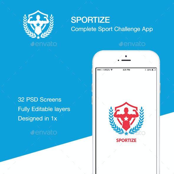 Sportize App UI Kit