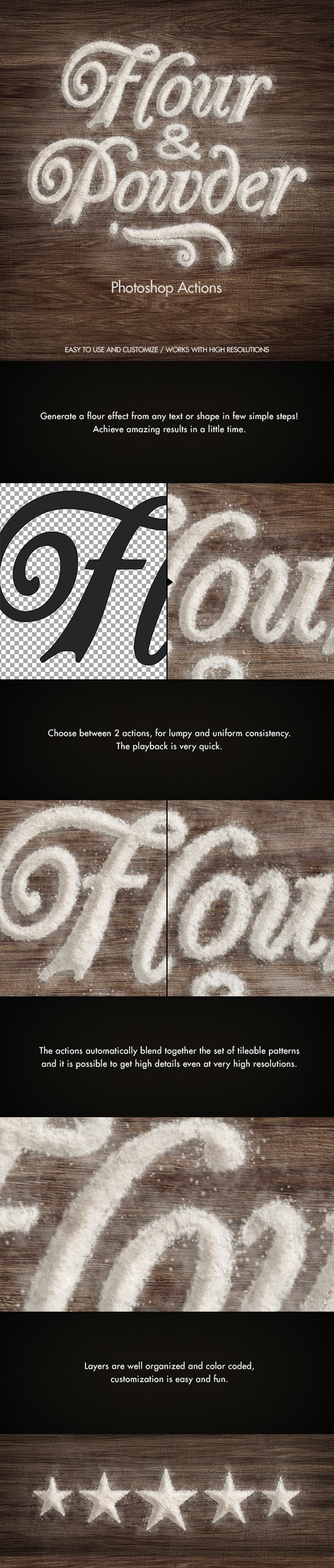 Flour & Powder - Photoshop Actions - Photoshop Add-ons