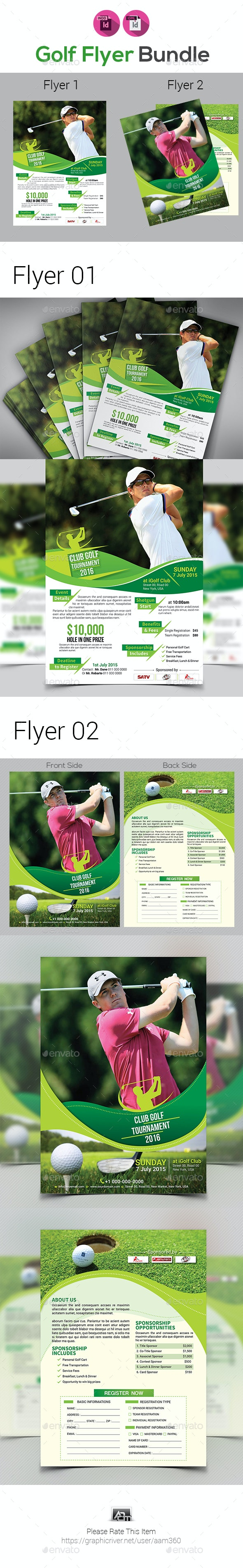 Golf Tournament Flyer Templates - Sports Events