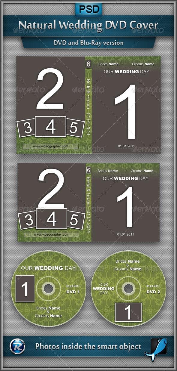 Natural Wedding DVD Cover - CD & DVD Artwork Print Templates
