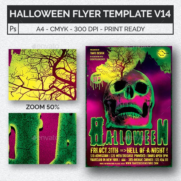 Halloween Flyer Template V14