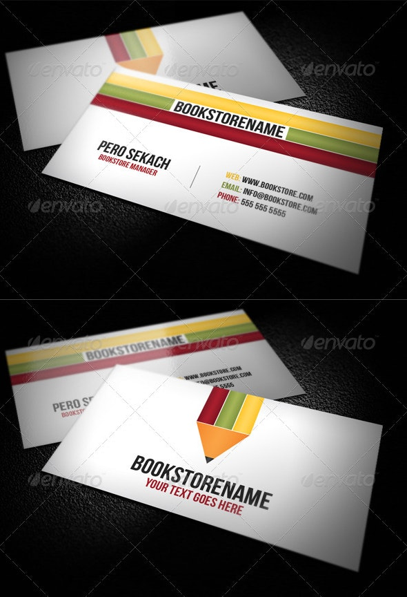 BookStore Business Card - Corporate Business Cards