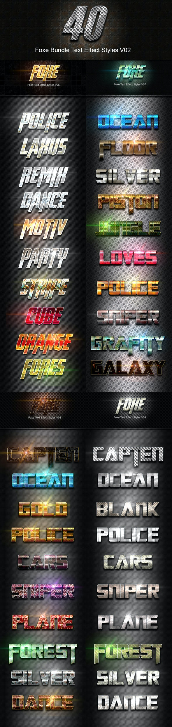 40 Foxe Bundle Text Effect Styles V02 - Text Effects Styles