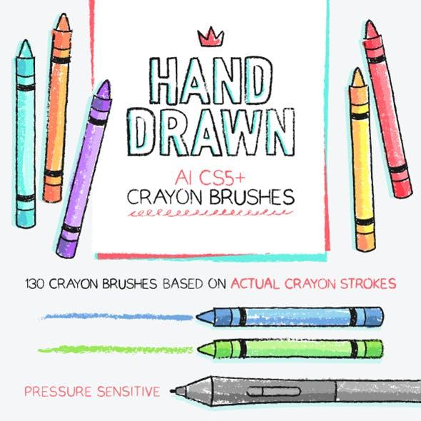 134 AI crayon brushes