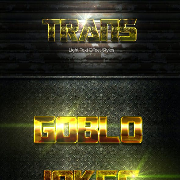 Trans Gold Text Effect V02