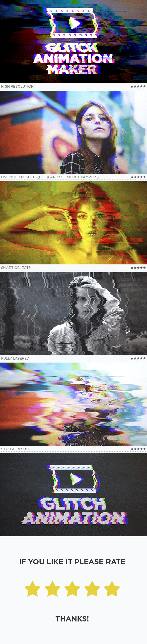 Glitch Animation Maker by traint | GraphicRiver