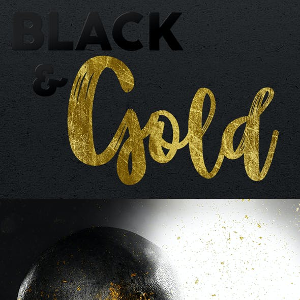 Black & Gold Photoshop Action