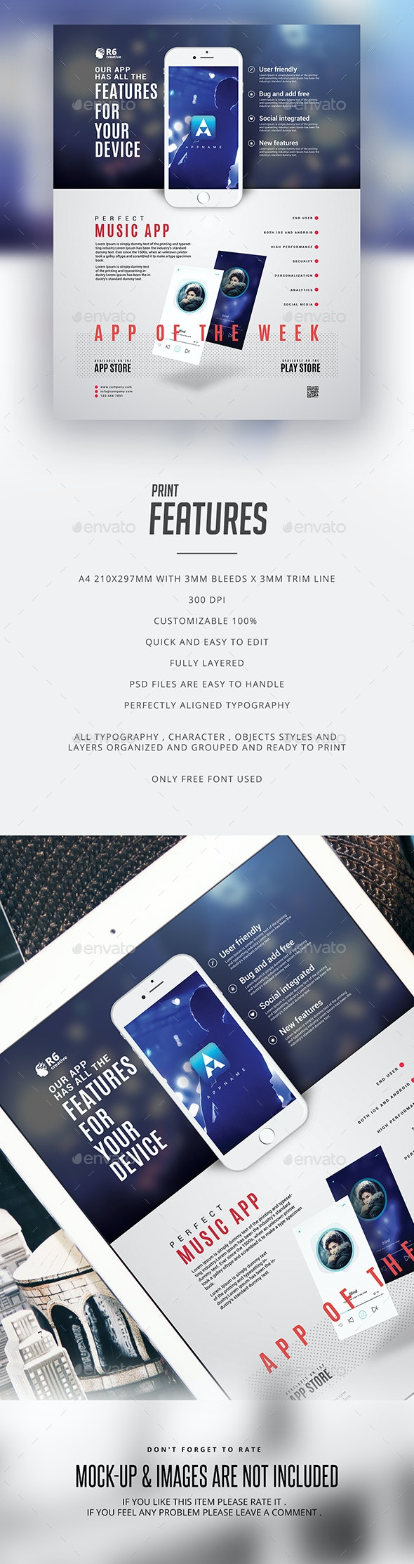 Mobile App Flyer Template - Events Flyers