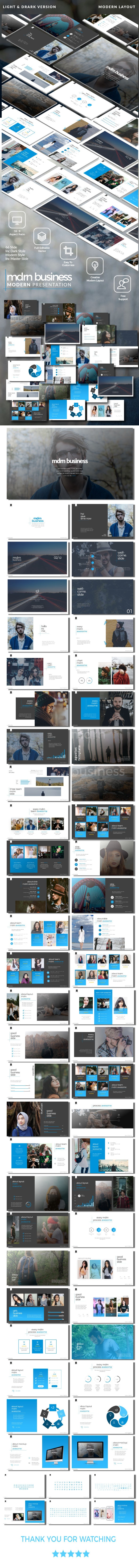 mdrn Business v.1 Modern Google Slide Template