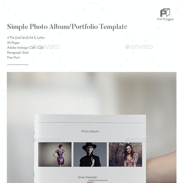 Simple Photo Album Template (Landscape)