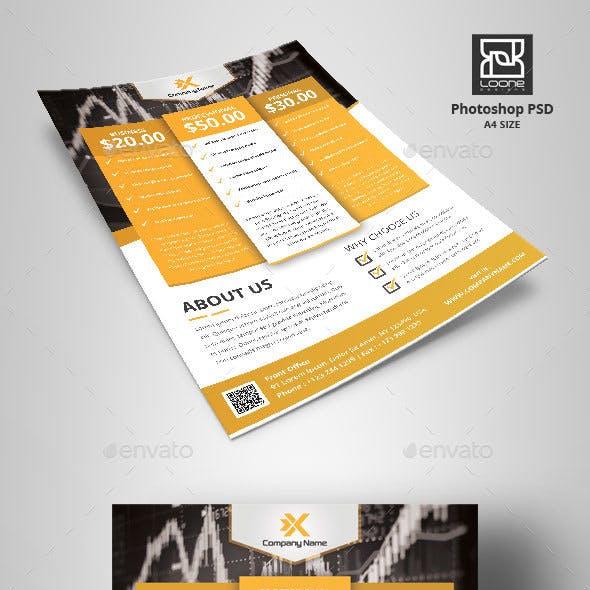 Multipurpose Flyer Price Designs