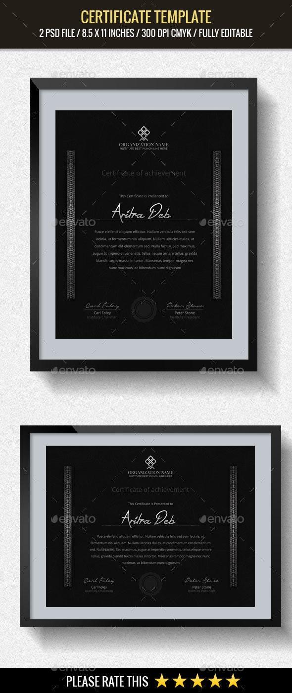 Multipurpose Certificates Template - Certificates Stationery