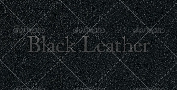 Black Leather - Fabric Textures