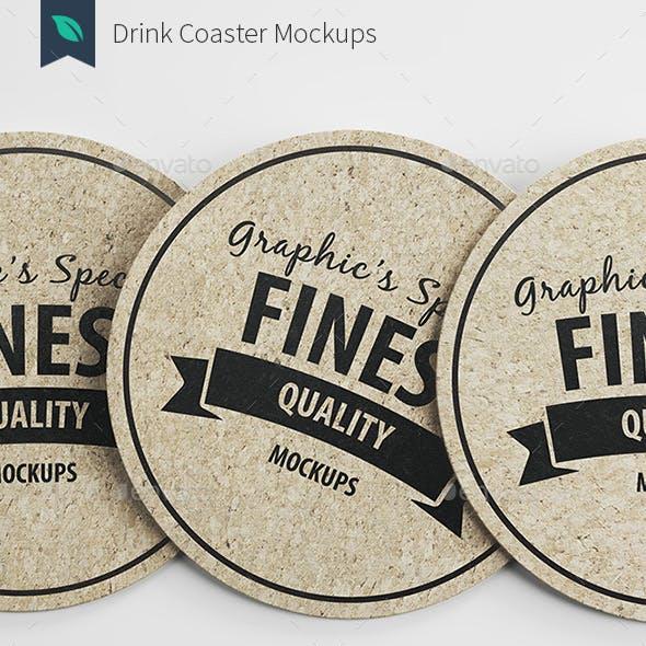 Drink/Beer Coaster Mockups