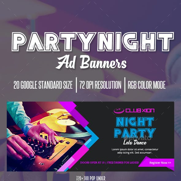 Party Ad Banner