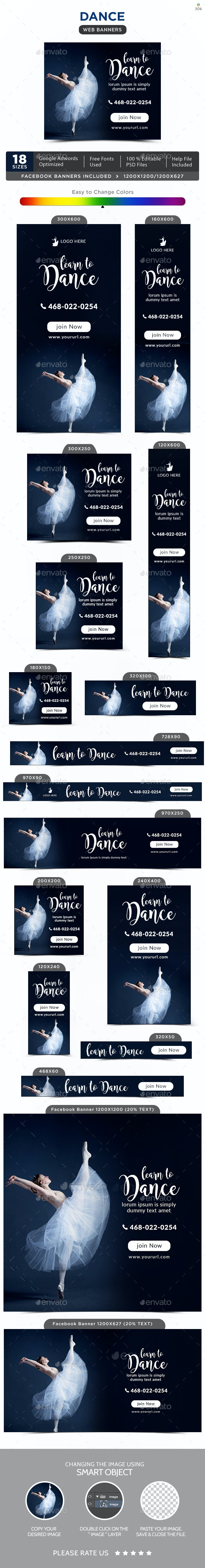 Dance Banners - Banners & Ads Web Elements