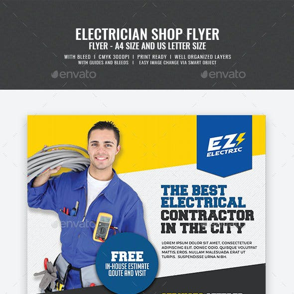 Electrical Electrician Services Flyer