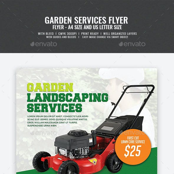 Garden and Landscaping Flyer